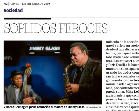 Crítica Vincent Herring Jimmy Glass