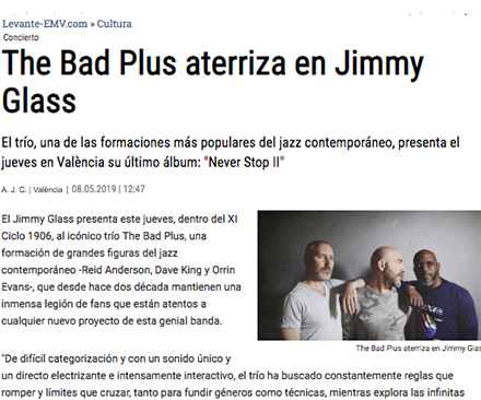 Levante The Bad Plus