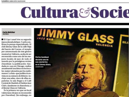 Levante sobre Jimmy Glass en DownBeat 2 feb 2018