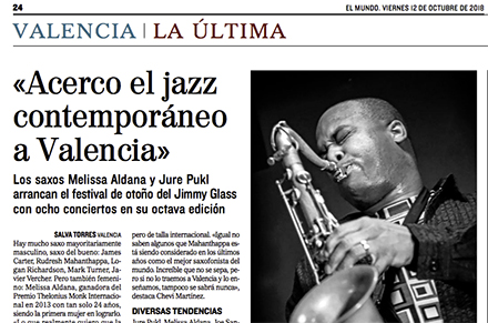 VIII Festival Jazz Contemporáneo Jimmy Glass El Mundo