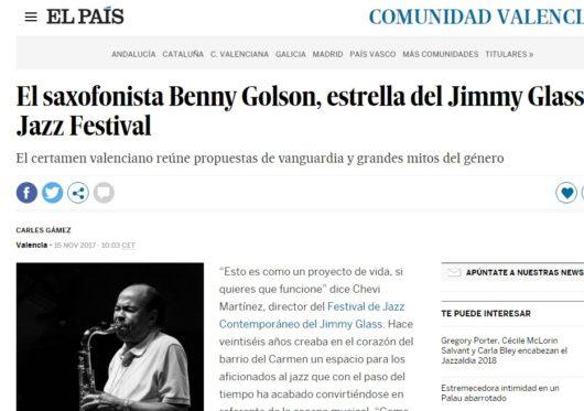 foto El País Benny Golson en Jimmy Glass