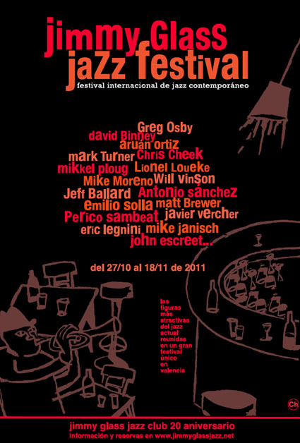 Cartel del I Festival de Jazz Contemporáneo del Jimmy Glass