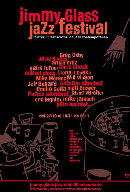 Cartel del I Festival de Jazz Contemporáneo del Jimmy Glass
