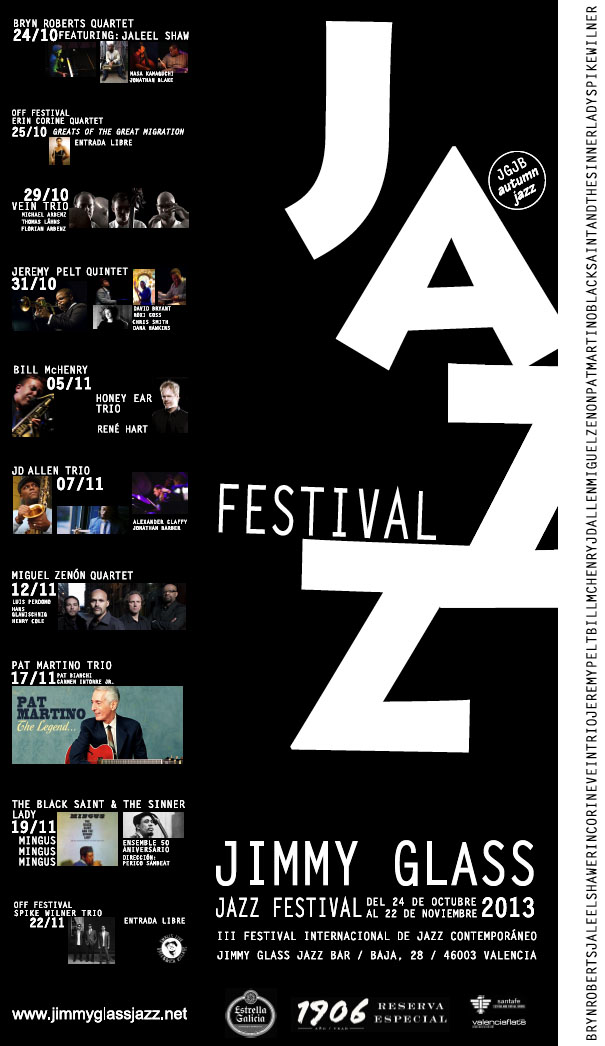 cartel III Festival Internacional de Jazz Contemporáneo del Jimmy Glass