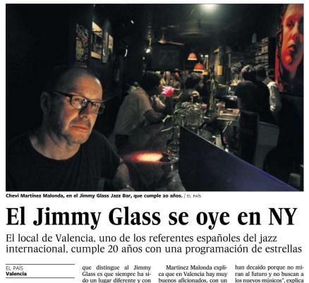 El Jimmy Glass se oye en Nueva York