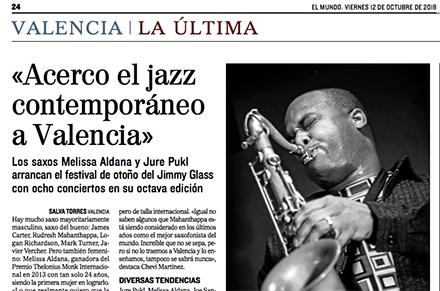 VIII Festival Jazz Contemporáneo Jimmy Glass El Mundo