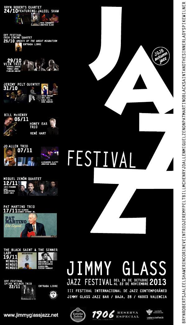 cartel III Festival Internacional de Jazz Contemporáneo del Jimmy Glass