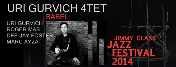 Caráctula Uri Gurvich en Jimmy Glass Jazz Festival